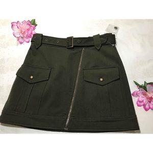 Olive Green Mini Skirt 🍸